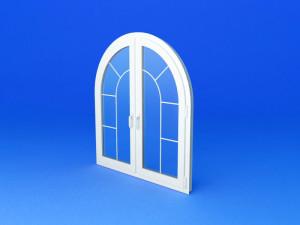 Арочное пластиковое окно