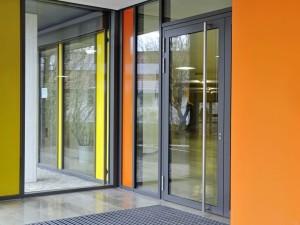 Алюминиевые двери ПМК ОКНА