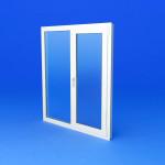 Окно пвх двухстворчатое с одной открывающейся створкой