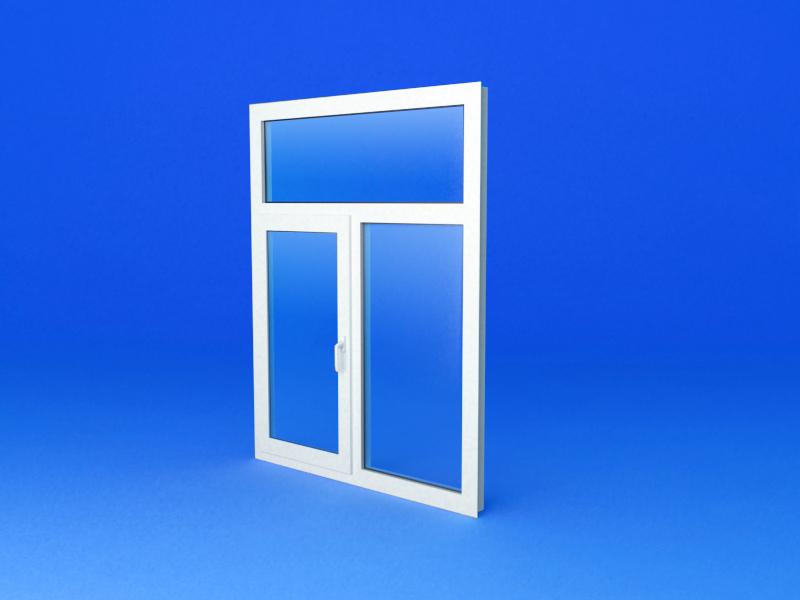 Пластиковое окно с глухой фрамугой