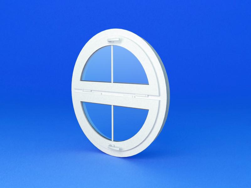 Круглое пластиковое окно